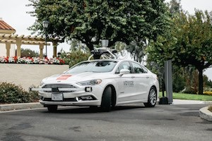 Self-driving taxi service launches at retirement community