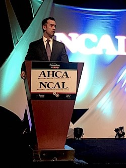"""""""We can never sit back and assume that all will be alright,"""" NCAL Executive Director Scott Tittle tells the more than 200 assisted living professionals attending the 11th Annual NCAL Day."""