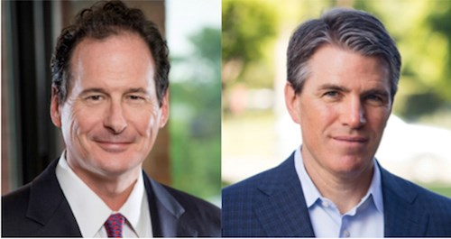 "Brookdale's Andy Smith, let, and HCP's Thomas Herzog call the series of transactions announced Monday ""a win-win."""