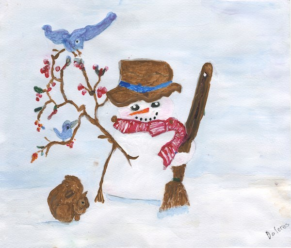 Snow Man by Delores Bost, a resident of New Perspective – Waconia, MN, will be one of the cards sent out by New Perspective Senior Living for the holidays this year. See other cards in the slide show.