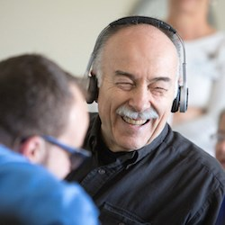 Eversound's wireless headphones are designed to benefit residents participating in group activities.