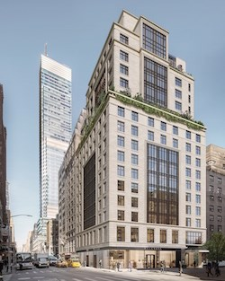 Sunrise at East 56th, shown in this artist's rendering, will be Midtown Manhattan's first purpose-built assisted living and memory care community, according to Welltower and Hines.