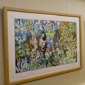 Residents can express themselves and beautify the community through the artwork they hang.