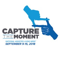 "Word play associated with the National Assisted Living Week theme of ""Capture the Moment,"" referencing photography, may result in residents referring to pictures or videos from their past, NCAL said."