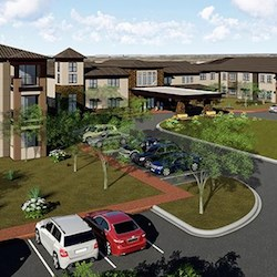 Azure Mesa will include 142 independent or assisted living units and 28 memory care units.