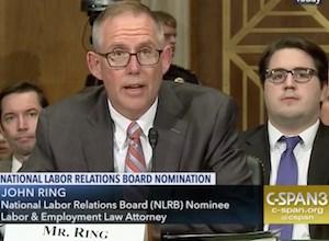 NLRB Chairman John F. Ring was sworn in April 16.
