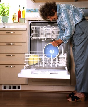 Users can fill a universally designed raised dishwasher from a wheelchair or when standing but not bending as much as otherwise would be necessary. Photo: Center for Universal Design