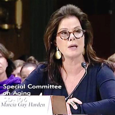 """""""The battle against Alzheimer's is a battle we must win,"""" actress Marcia Gay Harden told the Senate Special Committee on Aging. """"If we don't, it will cripple our nation."""""""