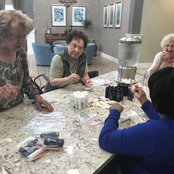 Residents at Sodalis Senior Living communities are giving back to their local communities.
