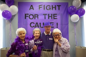 Capital Senior Living residents and staff raised more than $126,000 for the Alzheimer's Association through various activities.