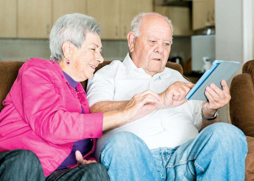 Forty-one percent of the older adults surveyed by Pew said they use Facebook, and 40% said they use YouTube.