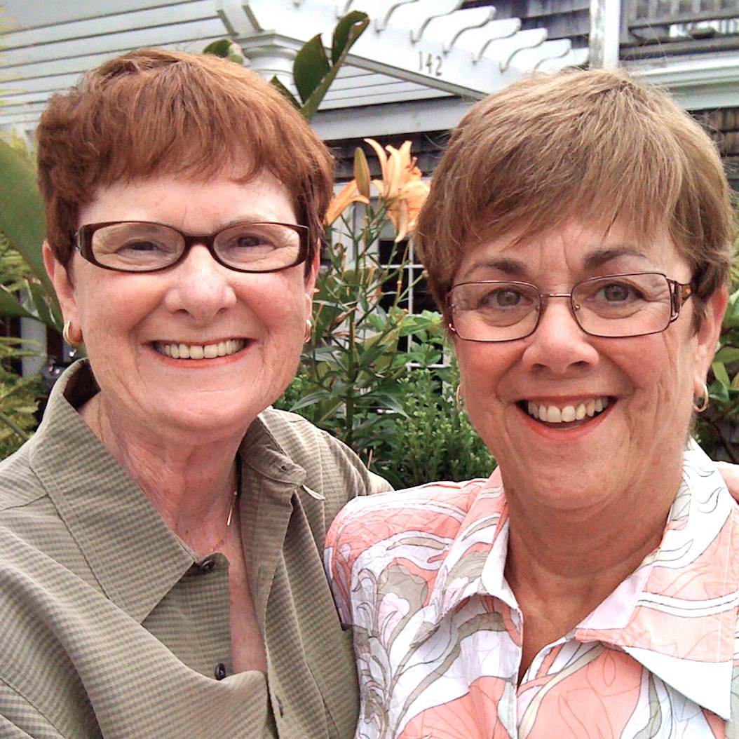 Mary Walsh, left, and Bev Nance pose at their 2009 wedding in Provincetown, MA. (Photo courtesy of Mary Walsh)