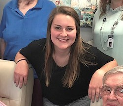 Recent college graduate spends summer as senior living resident